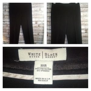 NWOT WHITE HOUSE BLACK MARKET BLACK SLACKS  10R